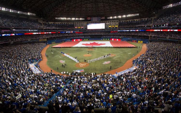 """""""Blue Jays home opener, 2014"""" by John Lott"""